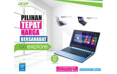 Pilihan Tepat: Mini Notebook Acer dengan Windows 8.1 Genuine