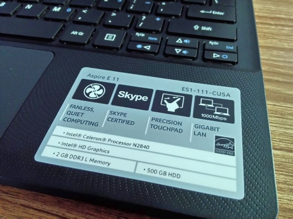 Review Spesifikasi Acer Aspire ES1