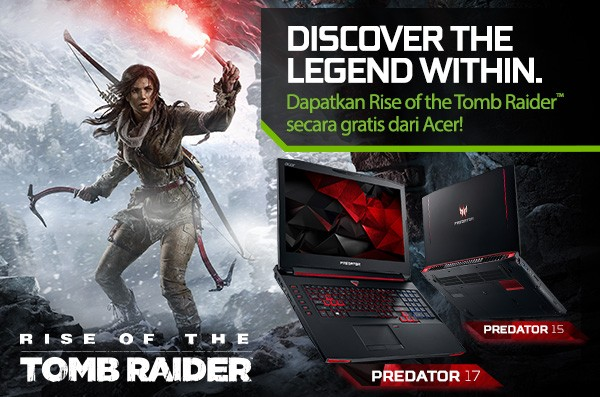 GRATIS Game Rise of the Tomb Raider dari Acer!
