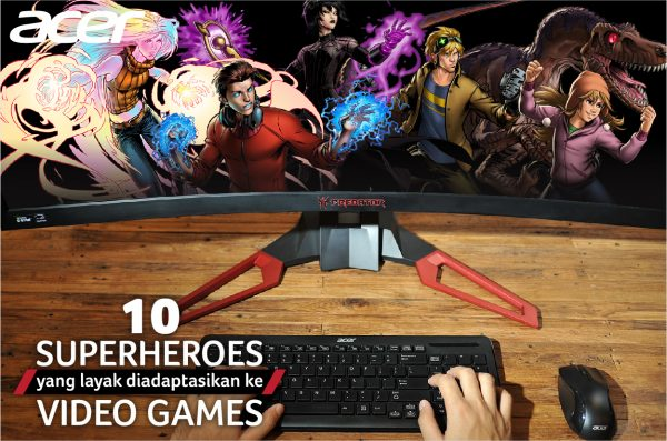 Top 10 Superheroes yang Layak Diadaptasikan ke Video Games