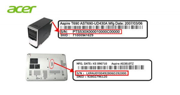 Cara cari Serial Number Acer