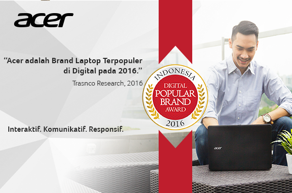 "Acer Raih ""Indonesia Digital Popular Brand Award 2016"""