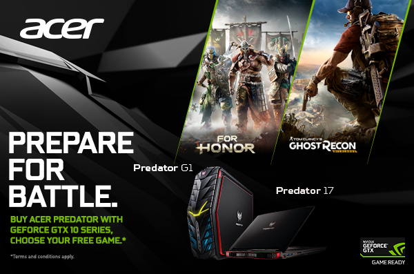 Yuk, Jadi yang Pertama Main Game For Honor dan Ghost Recon dari NVIDIA Game Bundle!