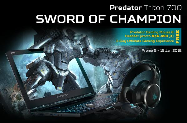 Beli Predator Triton 700 Berhadiah Langsung Predator Gaming Gears Jutaan Rupiah!