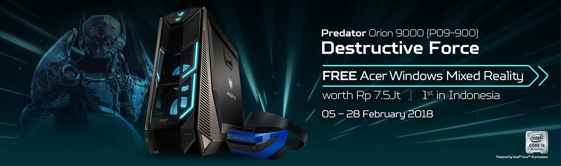 Beli Predator Orion 9000, Gratis Acer Windows Mixed Reality!