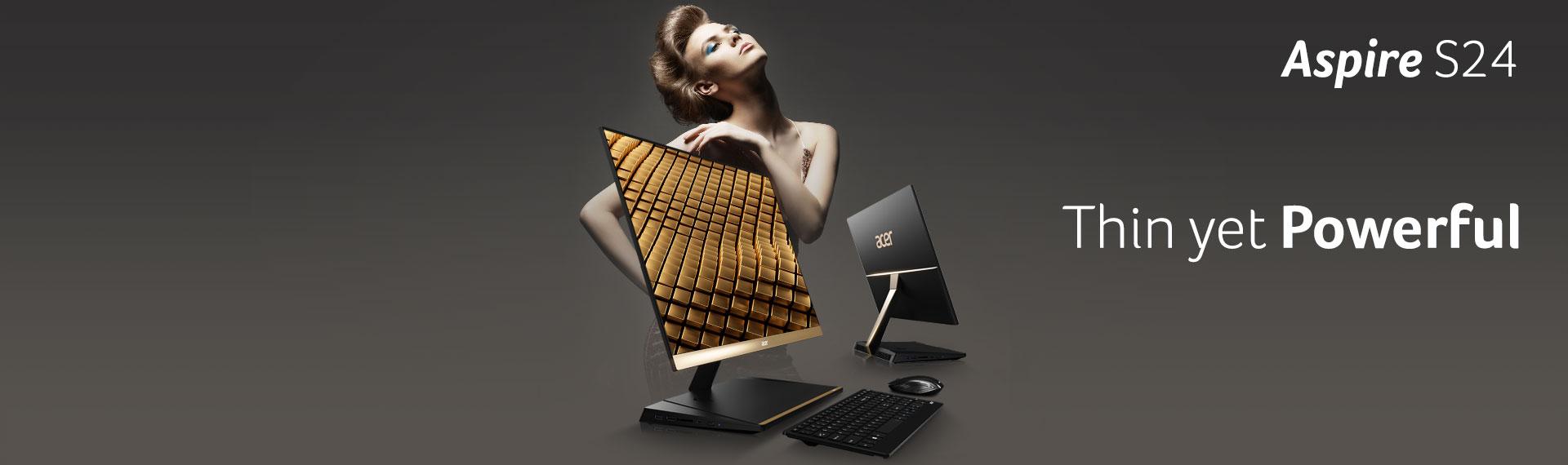 Acer Aspire S24, PC AIO Fleksibel dalam Desain Super Tipis