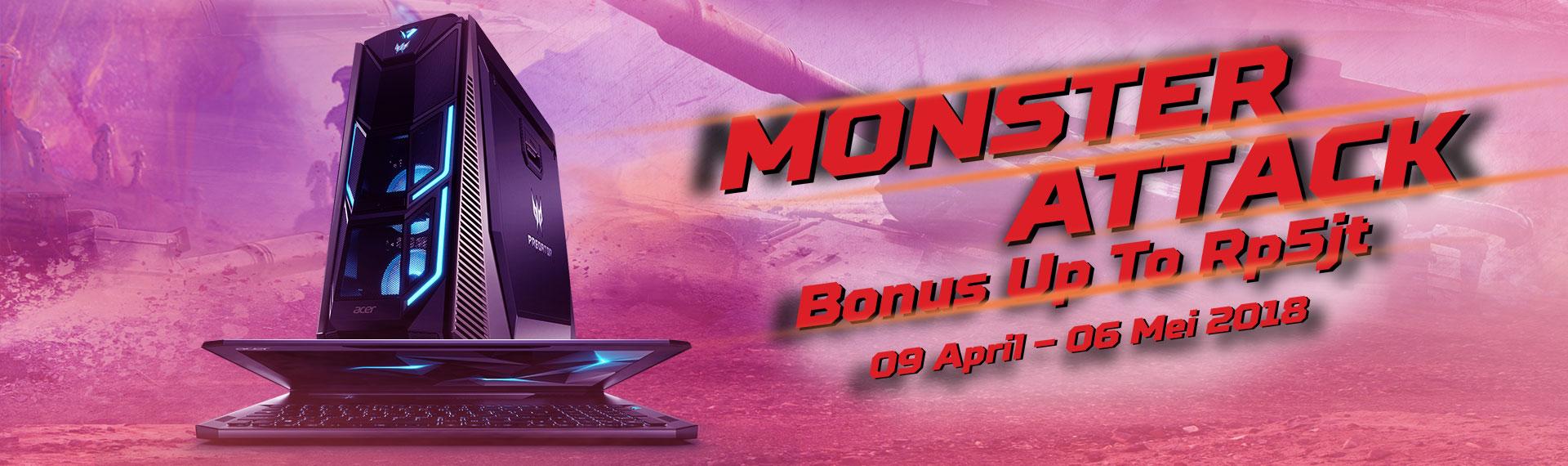 Miliki Predator Gaming Series dan Berbagai Bonusnya di Promo Monster Attack