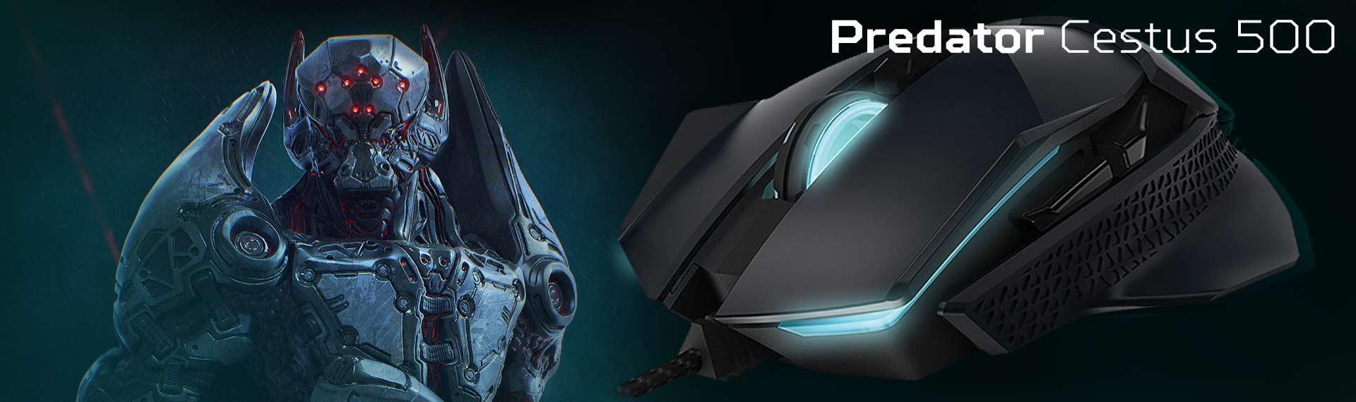 Predator Cestus 500, Mouse Gaming Terbaik dengan Akurasi Superior