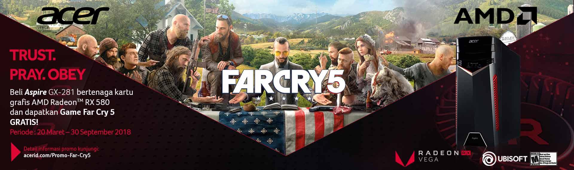 Gratis Game Far Cry 5 untuk Pembelian Aspire GX-281