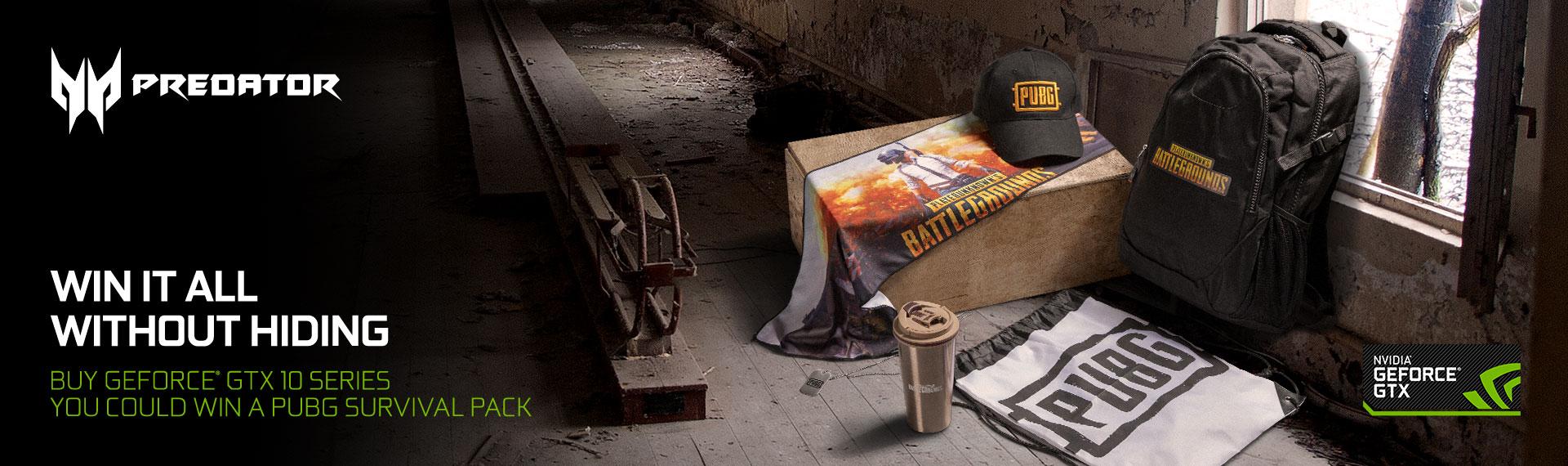 Dapatkan Limited Edition PUBG Survival Pack dalam Promo NVIDIA® GeForce® Series!
