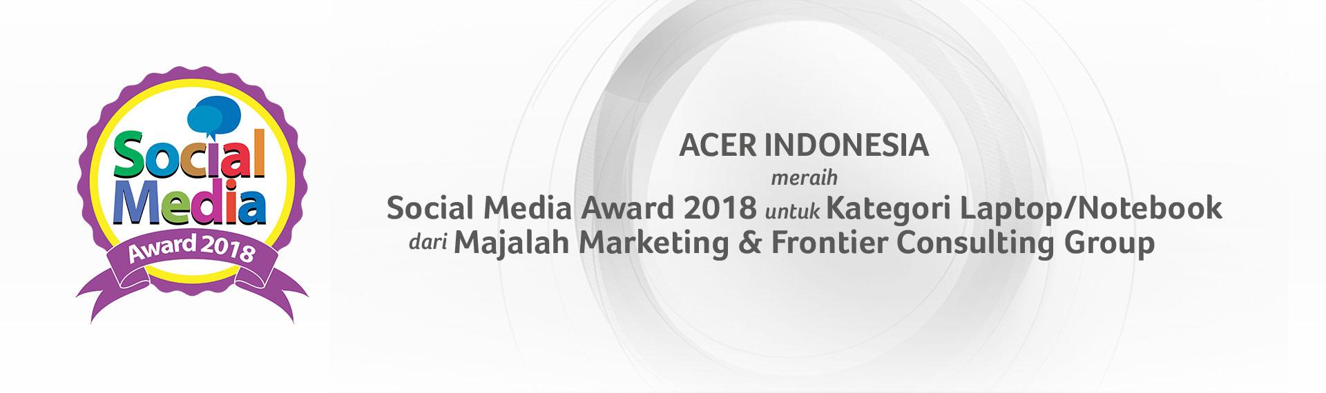 Wow! Social Media Acer Indonesia Dapat Penghargaan Bergengsi!