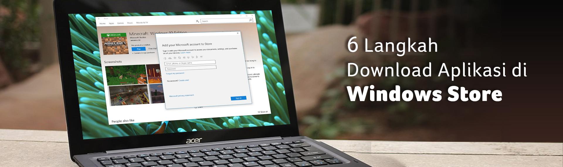 6 Langkah Download Aplikasi di Windows Store