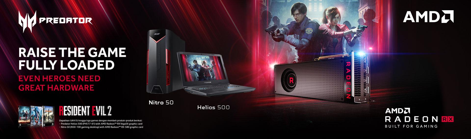 Bonus Sampai 3 Game Action Terkini Tiap Beli PC Gaming Acer dengan AMD Radeon