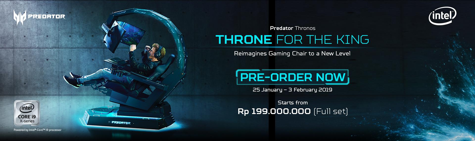 Pre-Order Online Singgasana Sultan Predator Thronos SEKARANG!!
