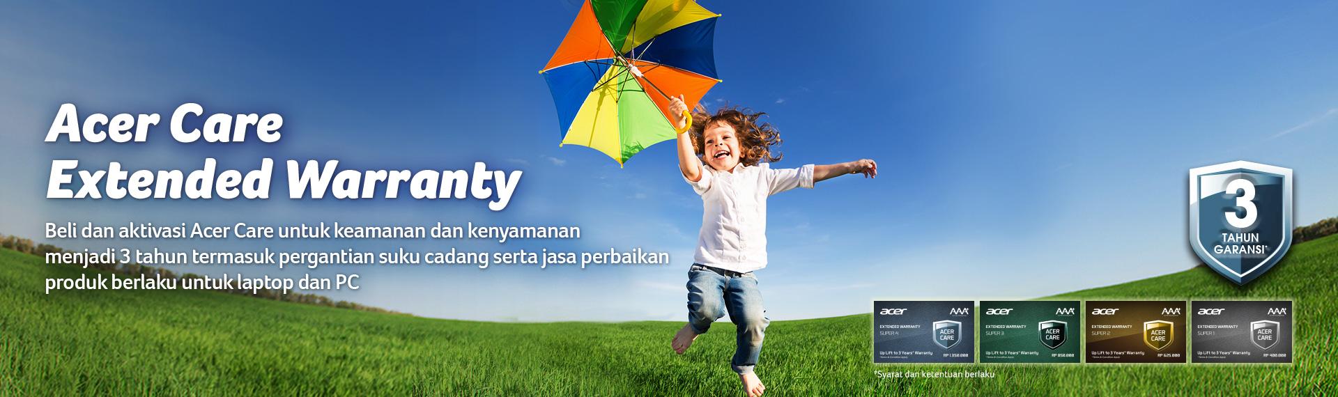 Nikmati Garansi Acer Selama 3 Tahun di Acer Care Extended Warranty!