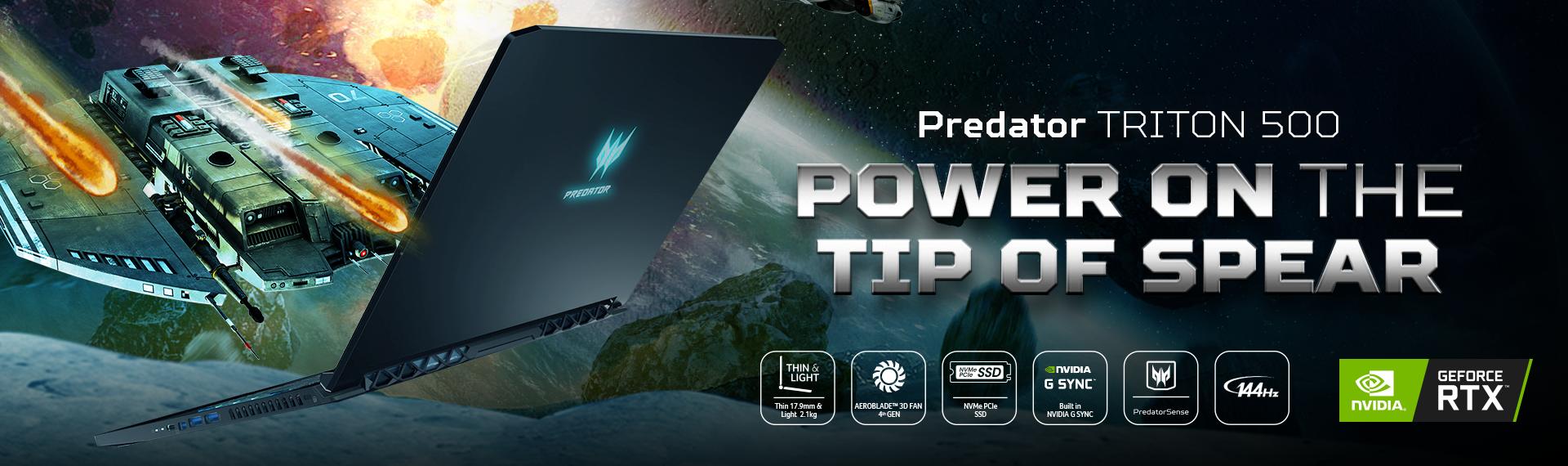 Predator Triton 500, Laptop Tipis dan Ringan untuk Gaming Kelas Hardcore