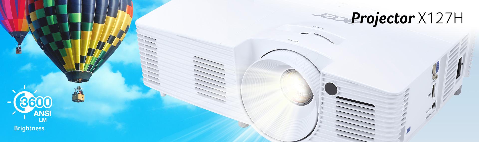 Acer X127H, Proyektor Berkualitas Gambar Tajam Penunjang Kerja dan Hiburan