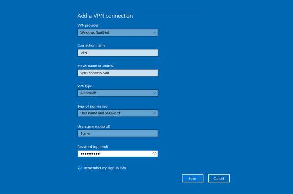 Cara Menggunakan VPN Isi VPN pada Windows 10