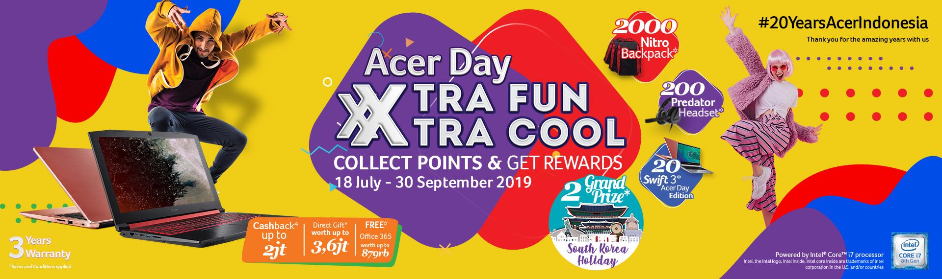Beli Produk Acer selama Acer Day 2019 dan Raih Kesempatan Menangin Total 2222 Hadiah Menarik serta Promo Spesial!