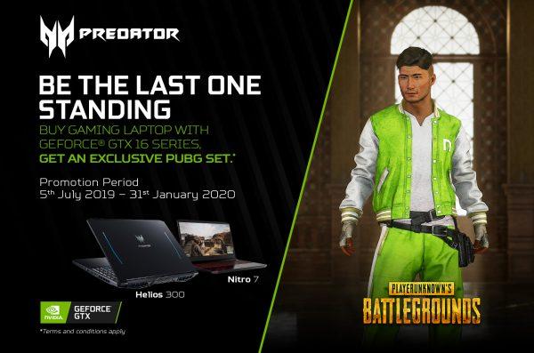 Mau Gratis NVIDIA Tracksuit PUBG? Beli Laptop Predator Series dengan NVIDIA GeForce® GTX 16!