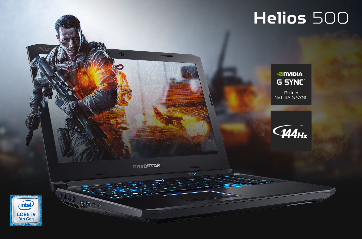 Predator Helios 500 Intel 8th gen