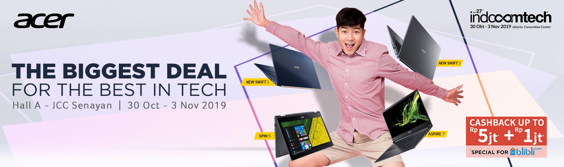 Serbu Promo Acer di Indocomtech 2019! Banyak Promo dan Hadiah Fantastis!