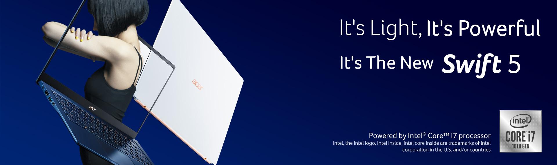 Acer Swift 5 dan Swift 3, Berbalut Tipis dan Stylish Dengan Performa Intel Gen 10