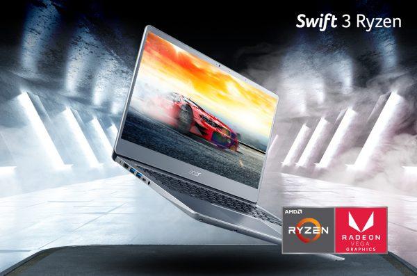 Swift 3 seri AMD Ryzen 3rd Gen, Si Ringan Bertenaga Mengagumkan