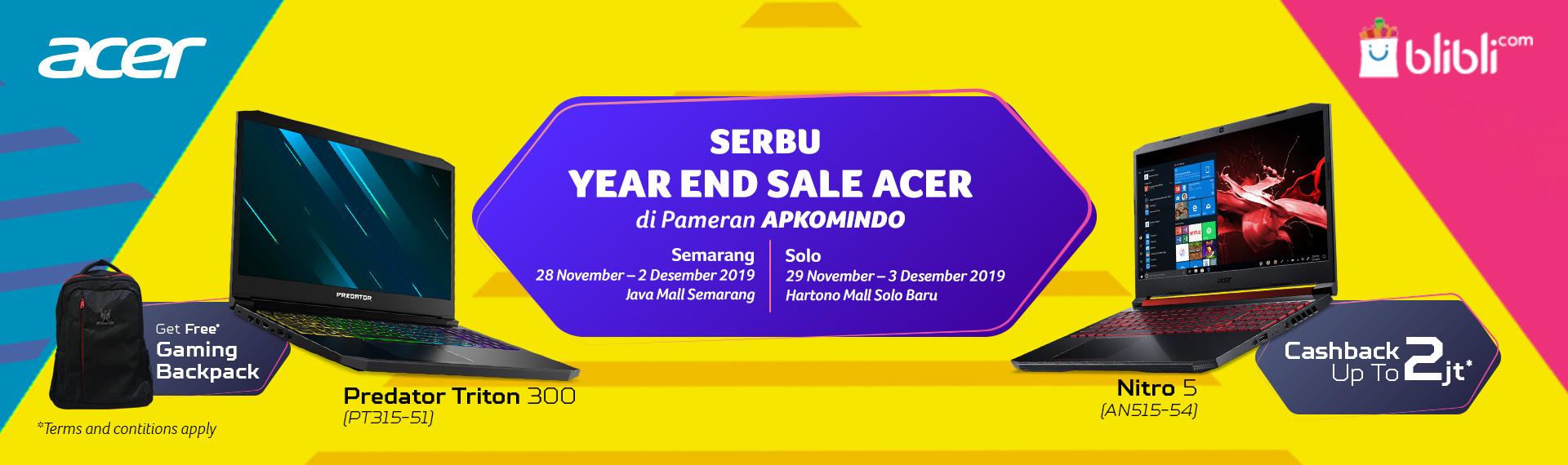 Serbu Year End Sale Acer di Pameran APKOMINDO Semarang dan Solo!
