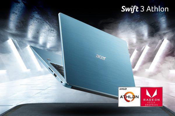 Swift 3 AMD Athlon Series, Laptop Stylish dengan Performa Grafis Terbaik