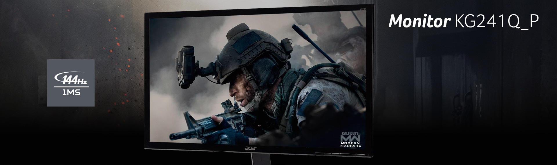 Acer KG241Q_P, Monitor Gaming dengan Kualitas Visual yang Akurat dan Memikat!