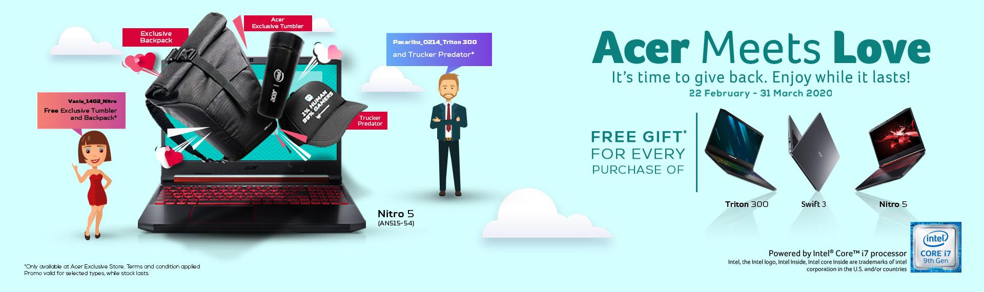 Dapatkan Exclusive Gift Lewat Promo Laptop Acer Meets Love!