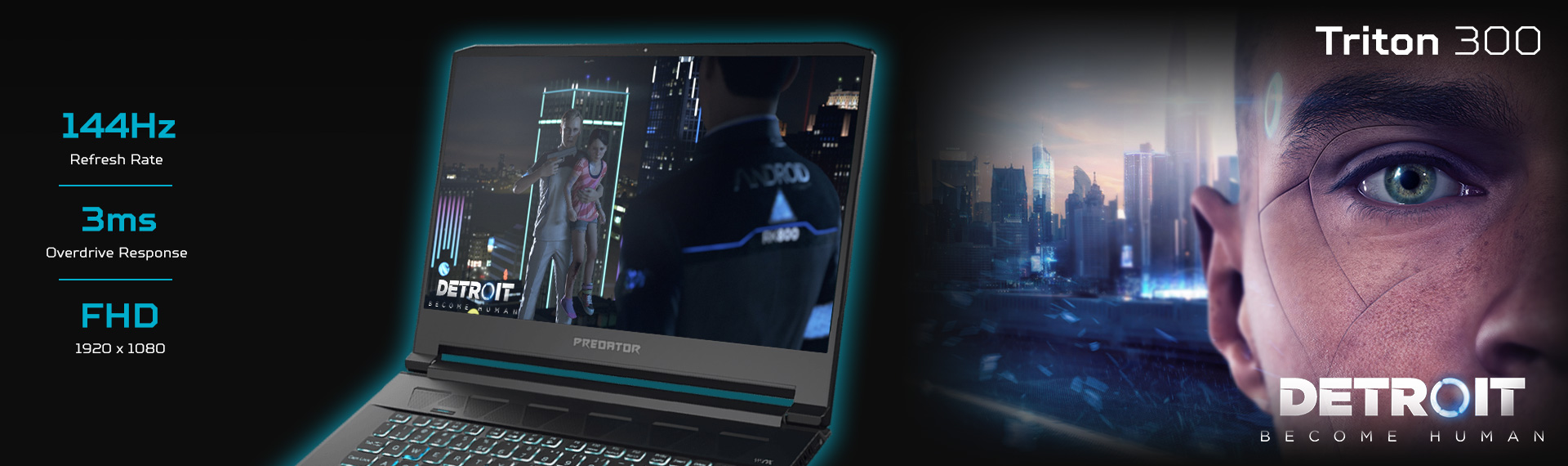 Alasan Predator Triton 300 Kompatibel untuk Game Detroit: Become Human