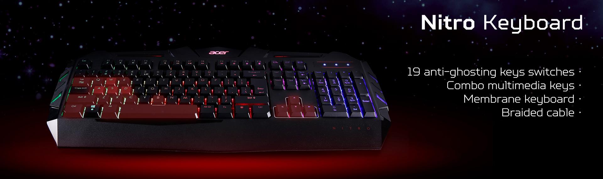 Keyboard Nitro, si Canggih untuk Aksi Gaming Hardcore