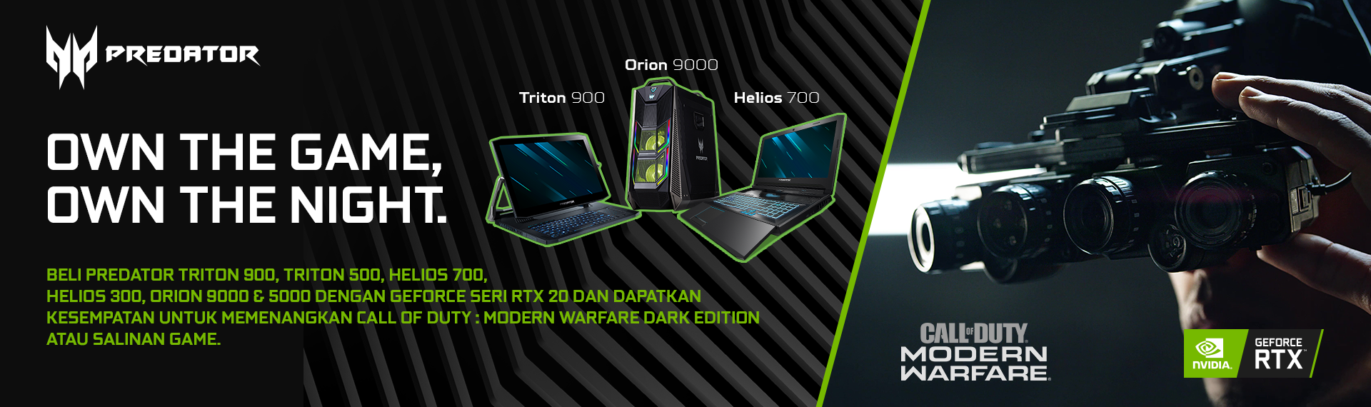 Beli Laptop & Desktop Gaming Predator, Dapat Kesempatan Menang Call of Duty: Modern Warfare Dark Edition!