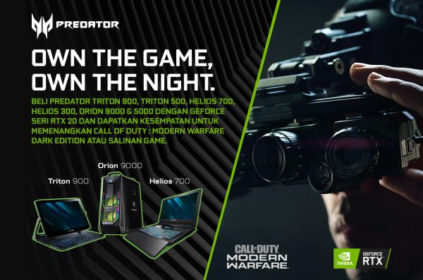 Beli Laptop & Desktop Gaming Predator, Dapat Kesempatan Menang Call of Duty: Modern Warfare Dark Edition!