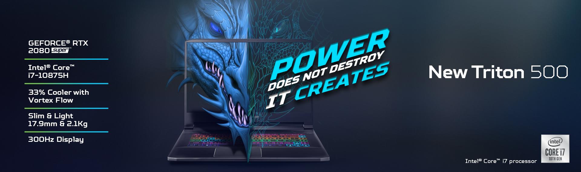 Predator Triton 500 Intel 10th Gen, Laptop Gaming Terbaik dengan Performa Mutakhir
