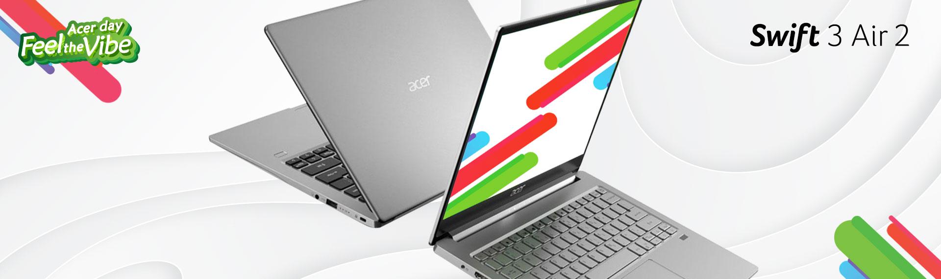 Swift 3 Air 2 (SF313-52), Laptop Premium QHD Pertama berlayar 3:2 untuk Visual Mengagumkan!