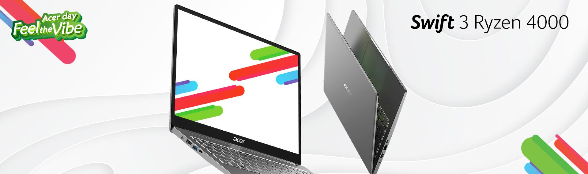 Swift 3 Ryzen 4000 (SF314-42), Laptop Kencang Berbalut Desain Elegan
