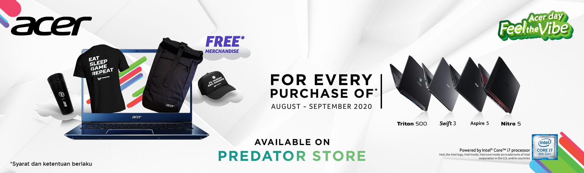 Promo Acer Exclusive Store dan Predator Store, Beli Laptopnya Dapat Extra Hadiah!