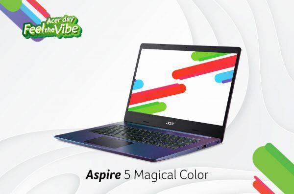 Aspire 5 (A514-53) Magical Color, Laptop Tipis dengan Koneksi Tiga Kali Lebih Cepat