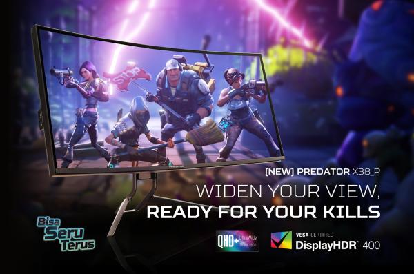 Predator X38_P, Monitor Melengkung Pertama dengan Visual Gaming yang Luar Biasa