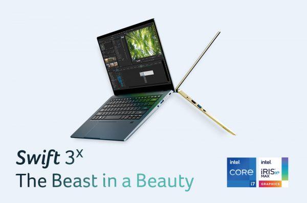 Acer Swift 3X, Laptop Tipis Elegan Pertama Bertenaga Intel® Iris® Xe MAX!
