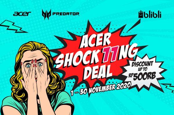Acer Shock11ng Deals! Harbolnas 11.11 Promo Laptop Acer Diskon 30%!