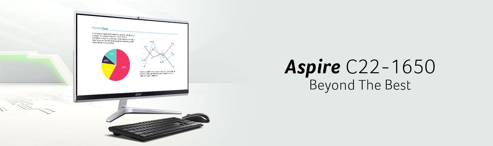 Desktop AIO Aspire C22-1650, Perangkat Minimalis Penunjang Beragam Komputasi