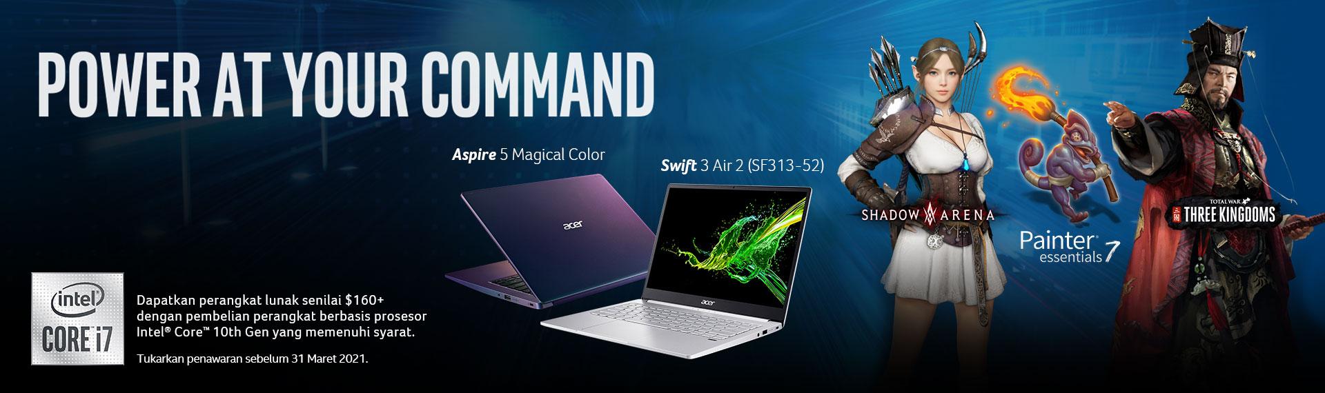 Promo Laptop Acer dengan Intel Core Dapat Software Bundling Bundling Senilai Rp2 juta!
