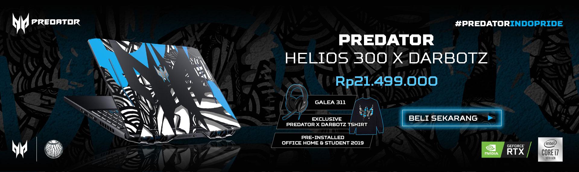 Predator Luncurkan Laptop Gaming Khusus Hasil Kolaborasi Perdana #PredatorIndoPride Bersama Darbotz